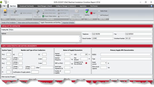 Electrical Certificate Software